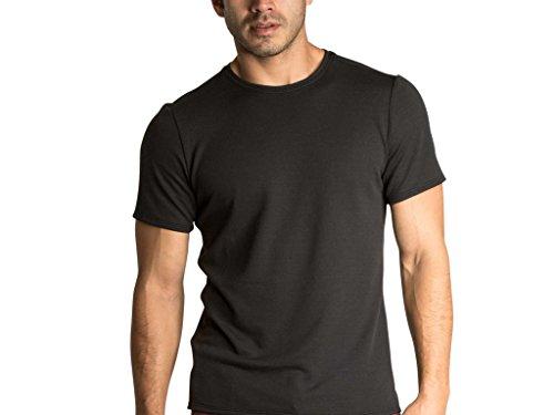 OLIVERS Apparel, Mens Athletic Merino Wool Tech Mesh Terminal Tee (Dark Navy, Large)