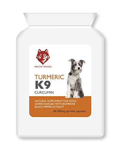 Healthy Hounds Turmeric for Dogs and Pets | 500mg Equal to 10 000mg | 100% Natural Turmeric with Bioperine Black Pepper Extract | Joint Care Supplement | Antioxidant | UK Made | 60 Caps