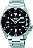 ساعة سيكو 5 فيس ليفت، مقاومة للماء حتى 10 ضغط جوي، تقويم، مينا اسود للرجال SRPD55K1