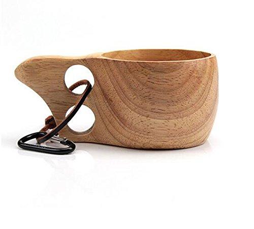 Weylon Holz tragbar Reise Tasse/Kaffeebecher/Trinkbecher/Camping Becher 200 ml handgefertigt 1 Stück