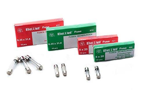 Sicherung 6,3A träge 5x20mm 250V TYP 522 10er Päckchen Feinsicherung Glassicherung G-Sicherung