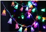 Luz ambiental de 1,2 m con energía solar de Navidad LED de cadena de luces de árbol de carámbulos LED para decoración del hogar (color: multicolor).
