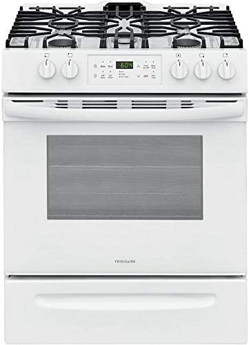 Frigidaire FFGH3054UW 30 Slide in Gas Range with 5 Burners 5 Cu Ft Oven Capacity Self Clean product image