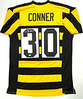 James Connor Autographed Black/Yellow Pro Style Jersey- Beckett Auth T3
