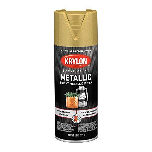 701 Krylon K01701777 Metallic Spray Paint, Bright Gold