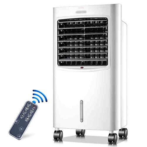 Ventilateur de climatisation polyvalent pour le chauffage et le refroidissement, peut déplacer le réchauffeur de ventilateur froid, blanc (Color : White)