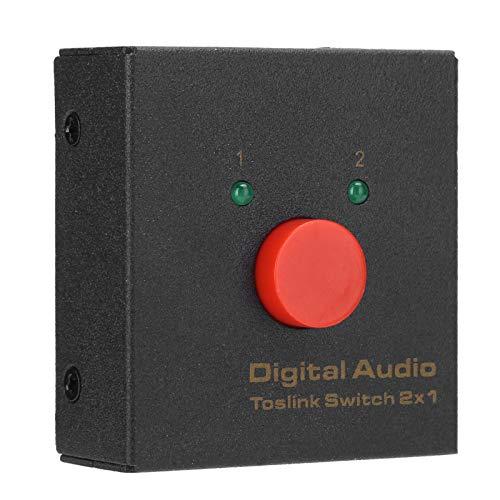 FOLOSAFENAR Divisor de Audio Digital coaxial, conmutador Divisor de Audio Digital coaxial de Fibra óptica Duradera ABS, para LPCM2.0 / DTS/Dolby-AC3