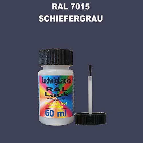 60 ml Lackstift mit Pinsel im Farbton RAL 7015 Schiefergrau