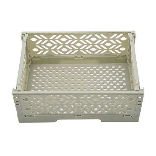 Ellepigy Kunststoff Faltbarer Schreibtisch Aufbewahrungskoffer Behälterkorb Große Zusammenklappbare Kiste Kasten Faltbar (Grün)