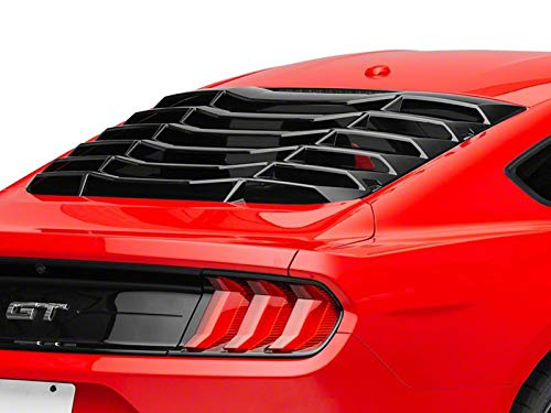 MP Concepts Rear Window Louvers in Gloss Black - Muscle Car Styling for Ford Mustang Fastback 2015-2020