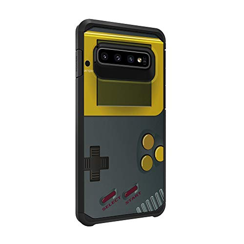 TurtleArmor | Compatible with Samsung Galaxy S10+ Case | S10 Plus Case | G975 | Slim Hybrid Hard Shell TPU Dual Layer Case - Gray Gameboy