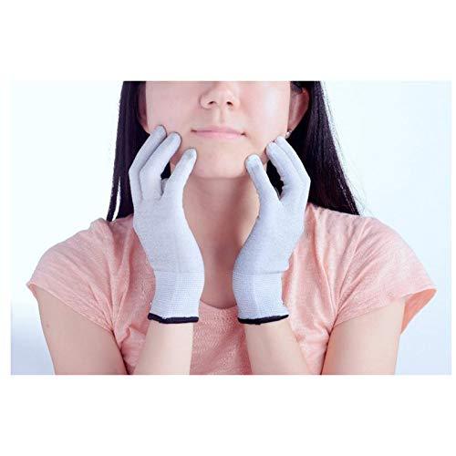 ZHANGY Schutzhandschuhe für elektromagnetische Strahlung aus Silberfaser, EMK-Blockierung, sterile leitfähige Handschuhe, Handabdeckung,L