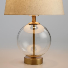Glass Globe Serena Accent Lamp Base | World Market