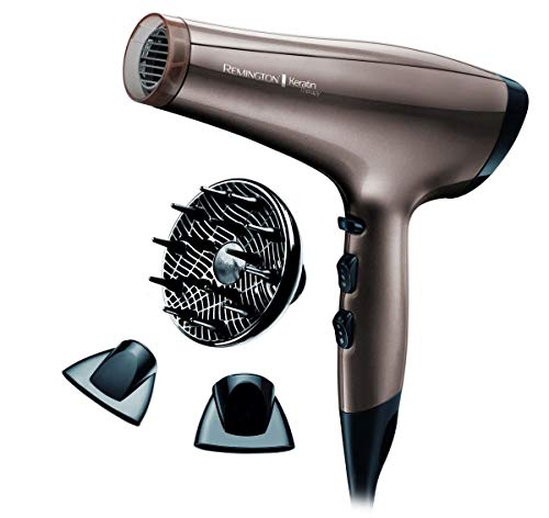 Remington Keratin Therapy - Secador de pelo iónico, motor 2200 W AC...