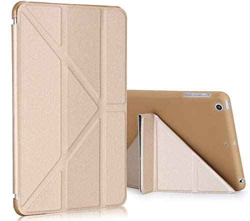 RZL Pad y Tab Fundas para iPad Air 1 Air 2, Cubierta Plegable Delgada Smart Auto Sleep Soft Flip TPU Funda para iPad Air 1 2 A1474 A1566 (Color : Golden)