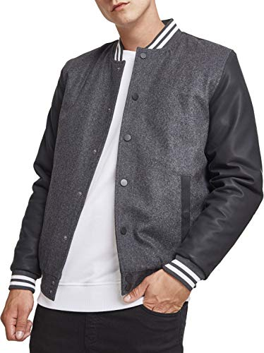 Urban Classics Oldschool College Jacket 2.0 Veste de Sport, Multicolore (Cha/Blk/WHT 01436), XXL Homme