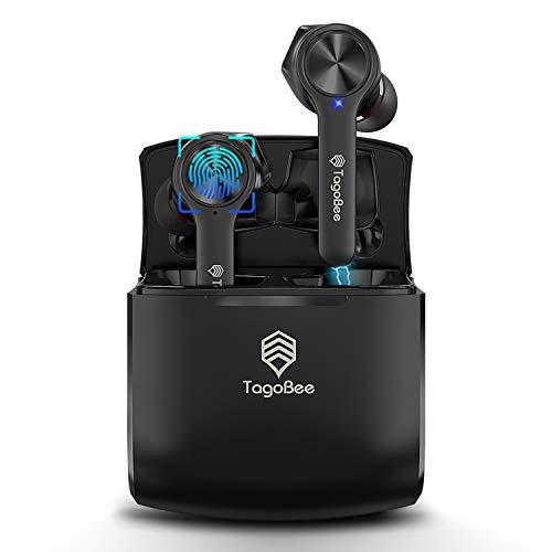 TagoBee Auricolari Bluetooth Senza Fili TBT11 Cuffie True Wireless Cuffie Bluetooth Auricolari Bluetooth Ricarica Senza Fili IPX5 Impermeabile Sport Auricolari con Custodia di Ricarica(Nera)