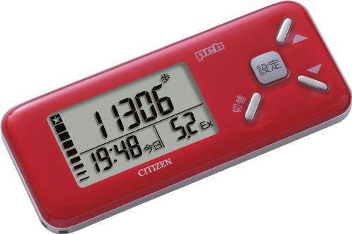 シチズン(CITIZEN) デジタル歩数計 peb レッド TW610-RD