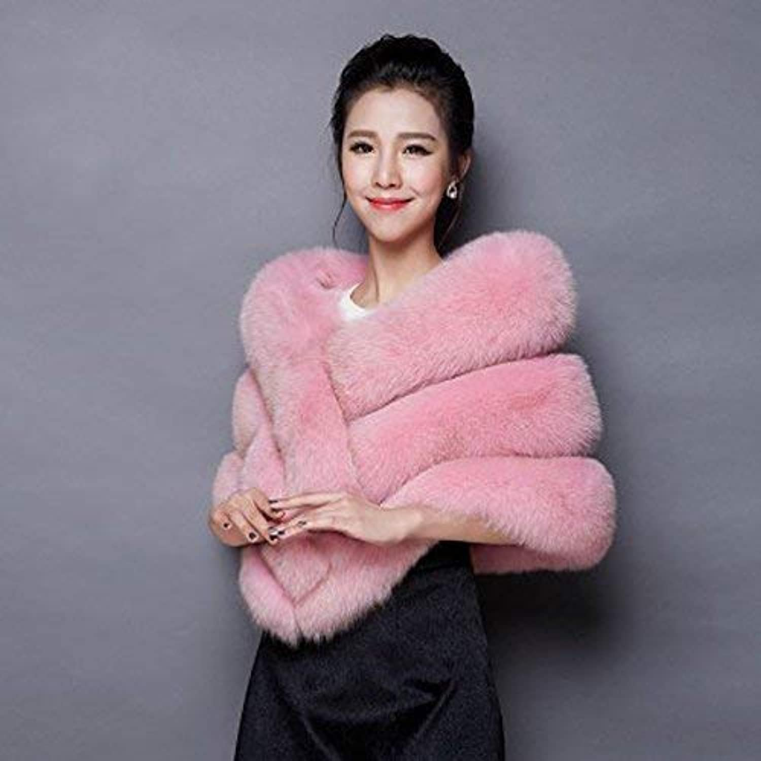 Womens Scarf Ladies Winter Autumn Warm Thickening Scarf Large Soft Fur Neckwear Pink Casual Fashion Solid color Wild for Women