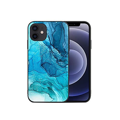 APHT Inchiostro Splash Tie Dye Rainbow Phone Custodia Compatibile con iPhone 5-12 PRO Max TPU Silicone Cover Protection Bumper Anti-Choc Housse Étui Case
