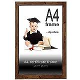 Clay Roberts Cornice A4 per Certificato, 21 x 29,7 cm, Marrone, Cornice Fotografica