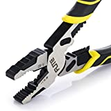 """4-in-1 Lineman Plier,Pro Lineman Tools -9"""" Combination Pliers with Wire Stripper+Crimper+Cutter+Pliers+ Winding Function,Industrial Grade Linesman Plirs-Chrome Vanadium Steel Forged"""