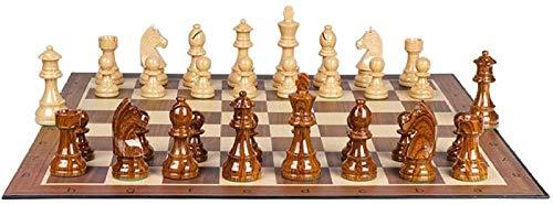 Juego de ajedrez de Alto polímero, Piezas de ajedrez de Peso Extra Pesado con un Juego de Tablero de ajedrez King de 3,7 Pulgadas (Color: 48 cm) Improve
