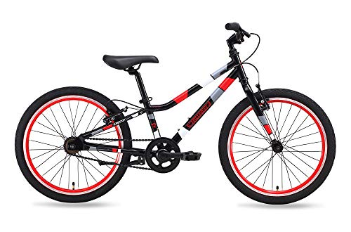 Guardian Bike Company Ethos Safer Patented SureStop Brake System 20' Kids Bike, Black/Red