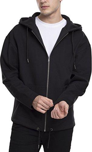 Urban Classics Herren Long Sweat Zip Hoody Kapuzenpullover, Schwarz (Black 7), X-Large