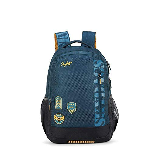 Skybags Stream Polyester 1811 cm Blue Spacious School Backpack with...