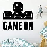 Joueur de jeu exquis respectueux de l'environnement chambre d'enfant décoration autocollants en vinyle BRICOLAGE Pvc chambre mur étanche décoration accessoires autre couleur L 43 cm X 47 cm