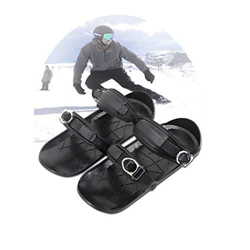 YYBF Mini Patines De Esquí para Nieve The Short Skiboard Snowblades, Mini Sled Snowboard Wall Sport Ski Boots, Botas De Nieve para Adultos
