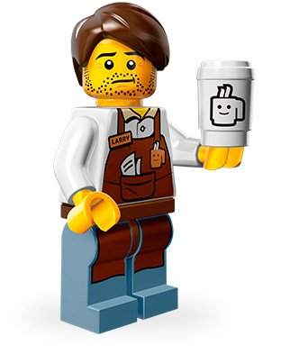 LEGO Minifiguren Movie Edition (Serie 12): Barista Larry
