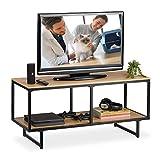 Relaxdays, 50,5 x 110,5 x 45,5 cm, Mueble TV de diseño Industrial, Mesa televisión,...