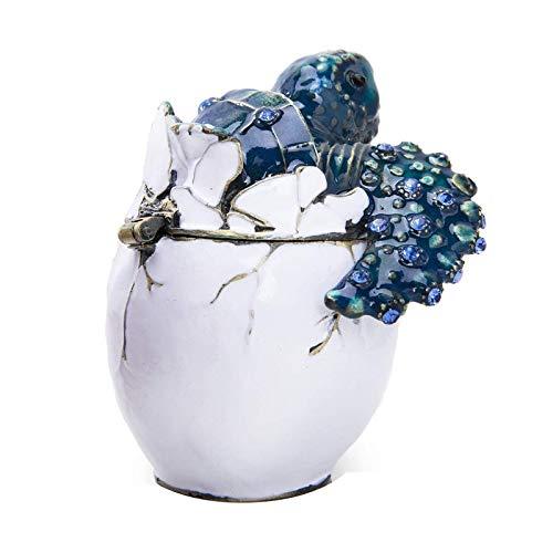 litulituhallo Pipping Baby Sea Turtle - Caja de cristal con bisagras