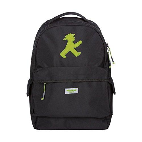 AMPELMANN Rucksack Backpacker Schwarz mit grünen Ampelmann (schwarz/grün)