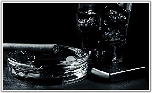 Könighaus Infraroodverwarming - fotoverwarming in HD-kwaliteit met TÜV/GS - 200+ afbeeldingen - met Smart thermostaat + Könighaus APP over de mobiele telefoon - 600 Watt - gepatenteerd - witte lijst - Black Edition 165. Whiskey Zippo Black Edition