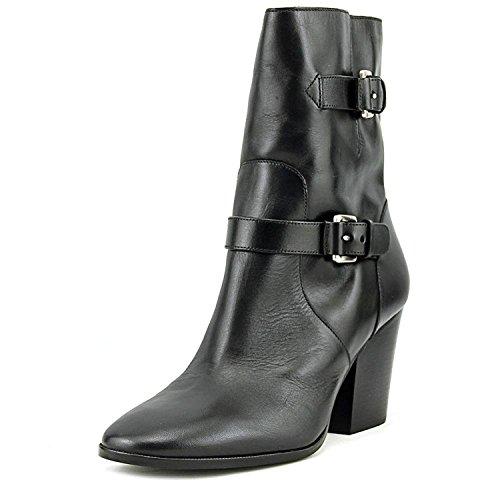 MICHAEL Michael Kors Womens Ashton Mid Bootie Leather, Black Vachetta, Size 9.5