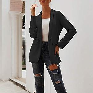 Cegduyi Anzugjacke Damen Anzug Schwarz Weiß
