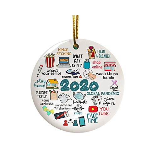 Jasinto Wood Art Personalize Personalized Pendant Ornaments with Face Macks DIY Santa Party Decoration Product Customized Hanging Christmas Decoration Set Creative Gift Wooden Model (1pc)