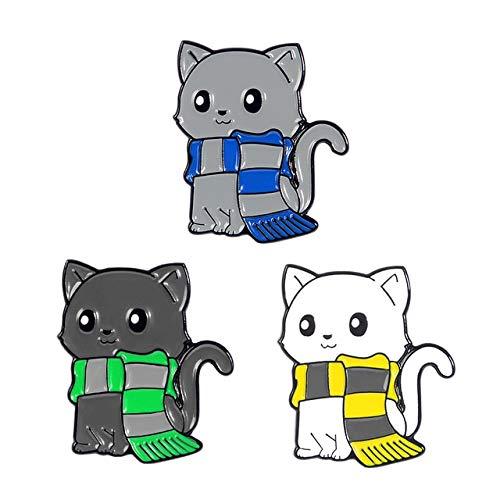Dibujos animados Animales Esmalte Pines Panda Gato Tortuga Fox Conejo Broches Bolsa Ropa Pin Insignias Divertido Zoo Joyería