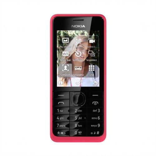Nokia 301 Handy (64MB RAM, 6 cm (2,4 Zoll) Bildschirm, 3,2 Megapixel Kamera, Bluetooth, Micro-USB 2.0) Fuchsia