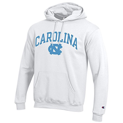 Elite Fan Shop North Carolina Tar Heels Hooded Sweatshirt Varsity White - X-Large