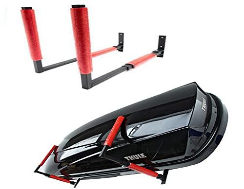 QLS Dachbox BOX1 Wandhalterung Halterung Dachkoffer Skibox Surfbrett Gartengeräte Sportgeräte Halter 57 cm BOX1