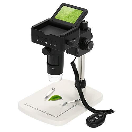 FYYONG 10X-220X Microscopio Digital 2.4' LCD 1080P HDMI/AV/salida USB 3.0MP LED Lupa con soporte ajustable y 8pcs LED Fuente de luz ajustable