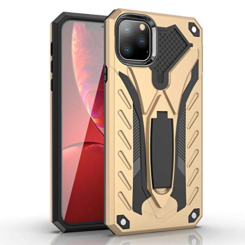 Flyuzi Funda de Armadura a Prueba de Golpes para Huawei Honor P8 P9 P10 P20 P30 Mate 9 10 20 Pro Lite Plus PORNÍA Titular Funda Protectora (Color : Gold, Material : For P20 Lite)