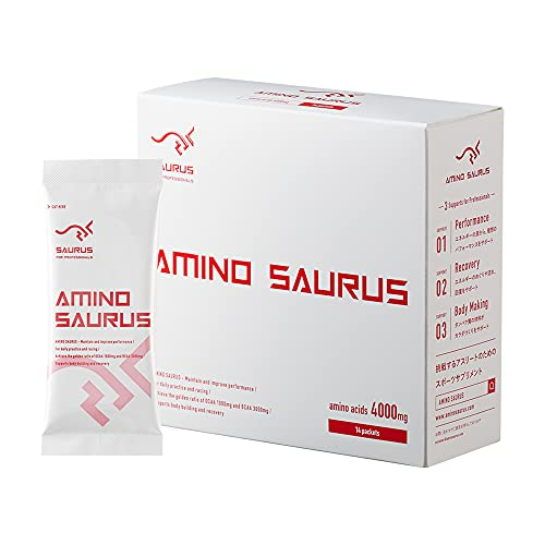 【アスリート愛用のアミノ酸】アミノサウルス AMINO SAURUS BCAA3000mg+アルギニン オルニチン シトルリン1000mg 配合/(14本入り×1箱)マラソン、サッカー、長友選手
