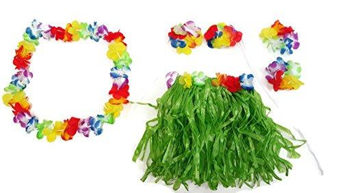 Hawaiian Summer Luau Party Child Hula Skirt Kit (5 Piece Kit) by Playscene (Child Hula Skirt Kit)