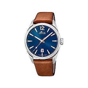 Reloj Lotus Chrono 18693/2 para Hombre, Color Azul, marrón y Acero, Correa