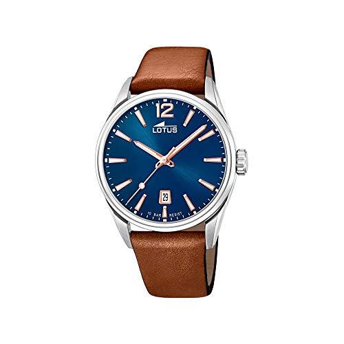 Lotus Herren Analog Quarz Uhr mit Leder Armband 18693/2